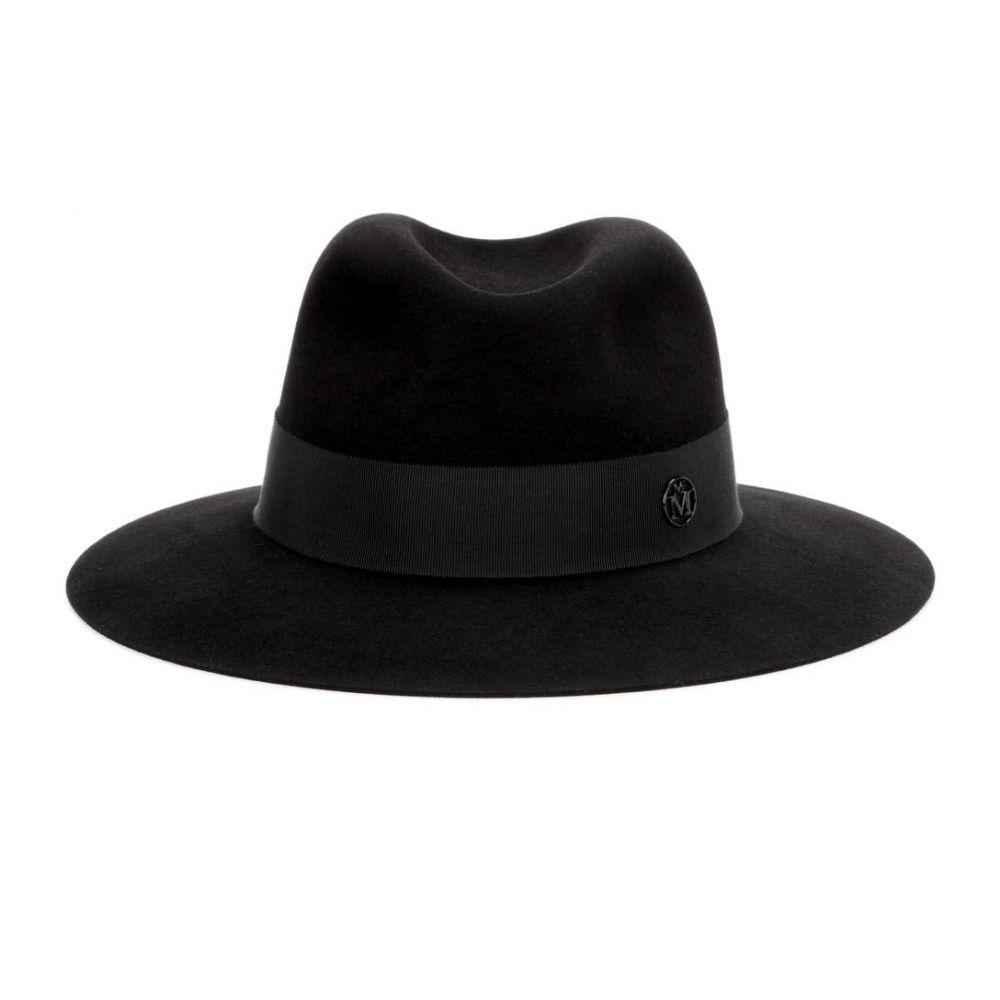 メゾンミッシェル Maison Michel レディース 帽子 ハット【Henrietta rabbit-felt fedora】Black Ribbon