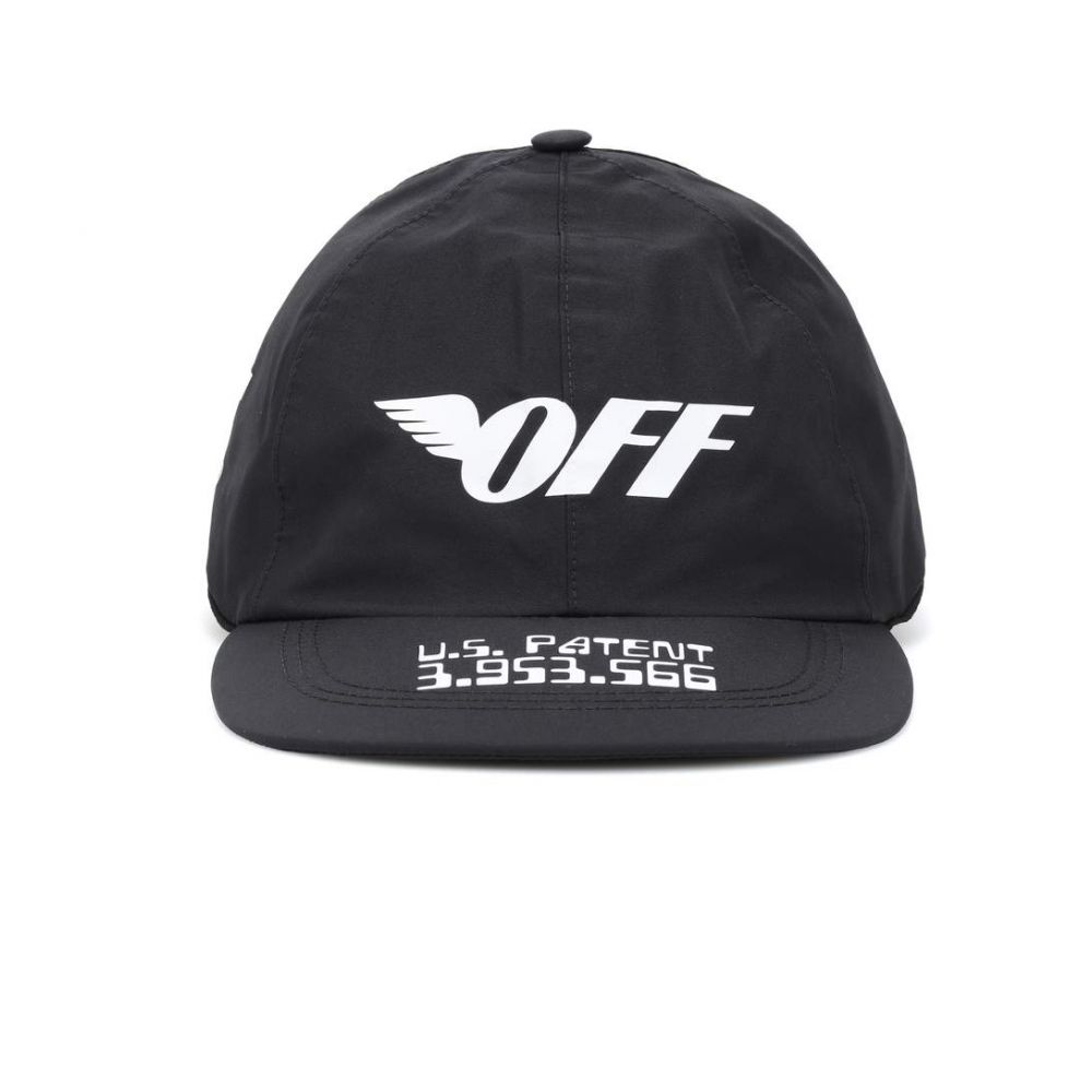 オフ-ホワイト Off-White レディース 帽子 キャップ【Printed cap】Black Whit