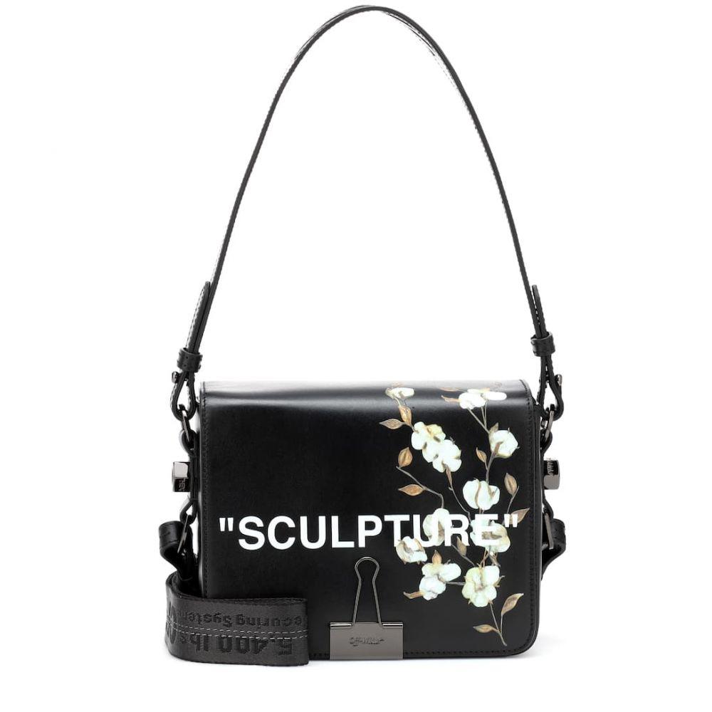 オフ-ホワイト Off-White レディース バッグ ショルダーバッグ【Binder Clip leather shoulder bag】black white