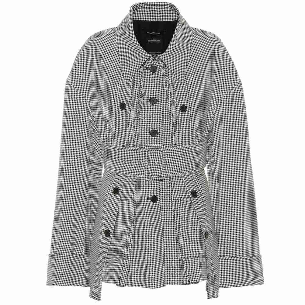 ロック Rokh レディース アウター ジャケット【Houndstooth jacket】black and white