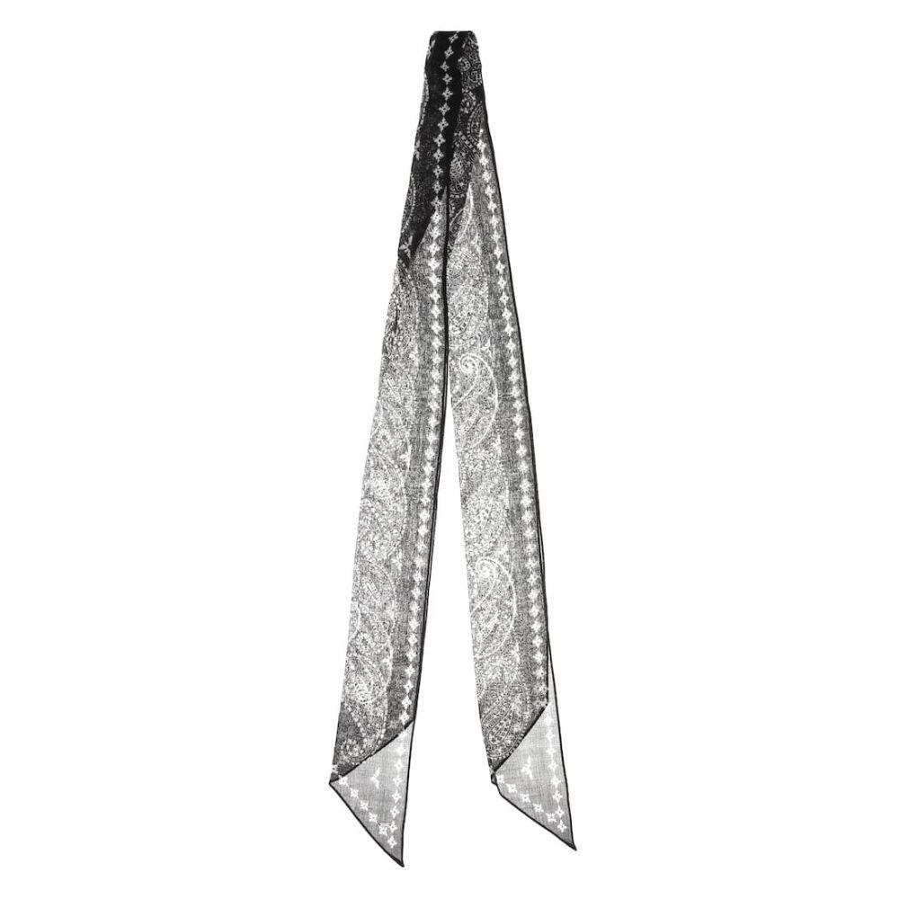 イヴ サンローラン Saint Laurent レディース マフラー・スカーフ・ストール【Paisley-printed wool scarf】Black/Ivory