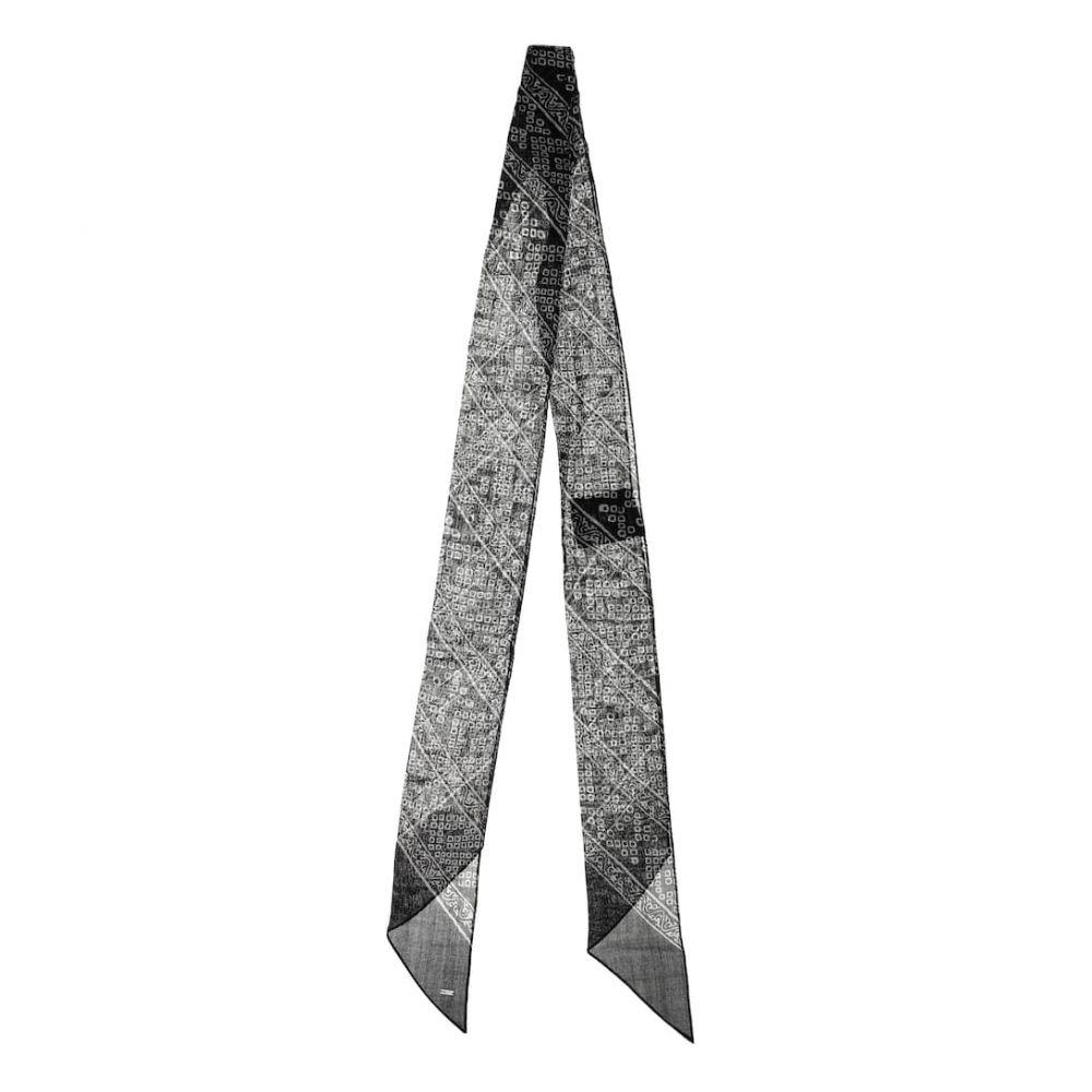 イヴ サンローラン Saint Laurent レディース マフラー・スカーフ・ストール【Printed wool scarf】Black/Ivory
