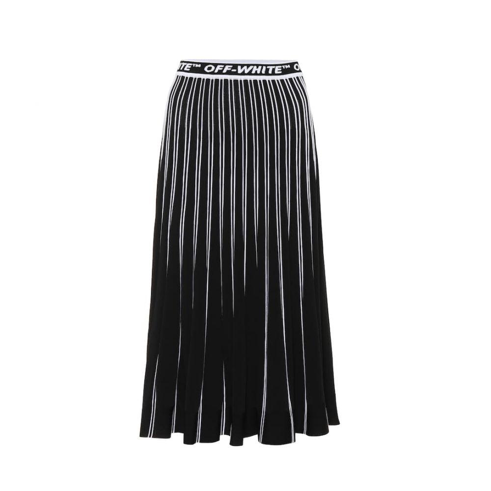 オフ-ホワイト Off-White レディース スカート ひざ丈スカート【Pleated midi skirt】Black White