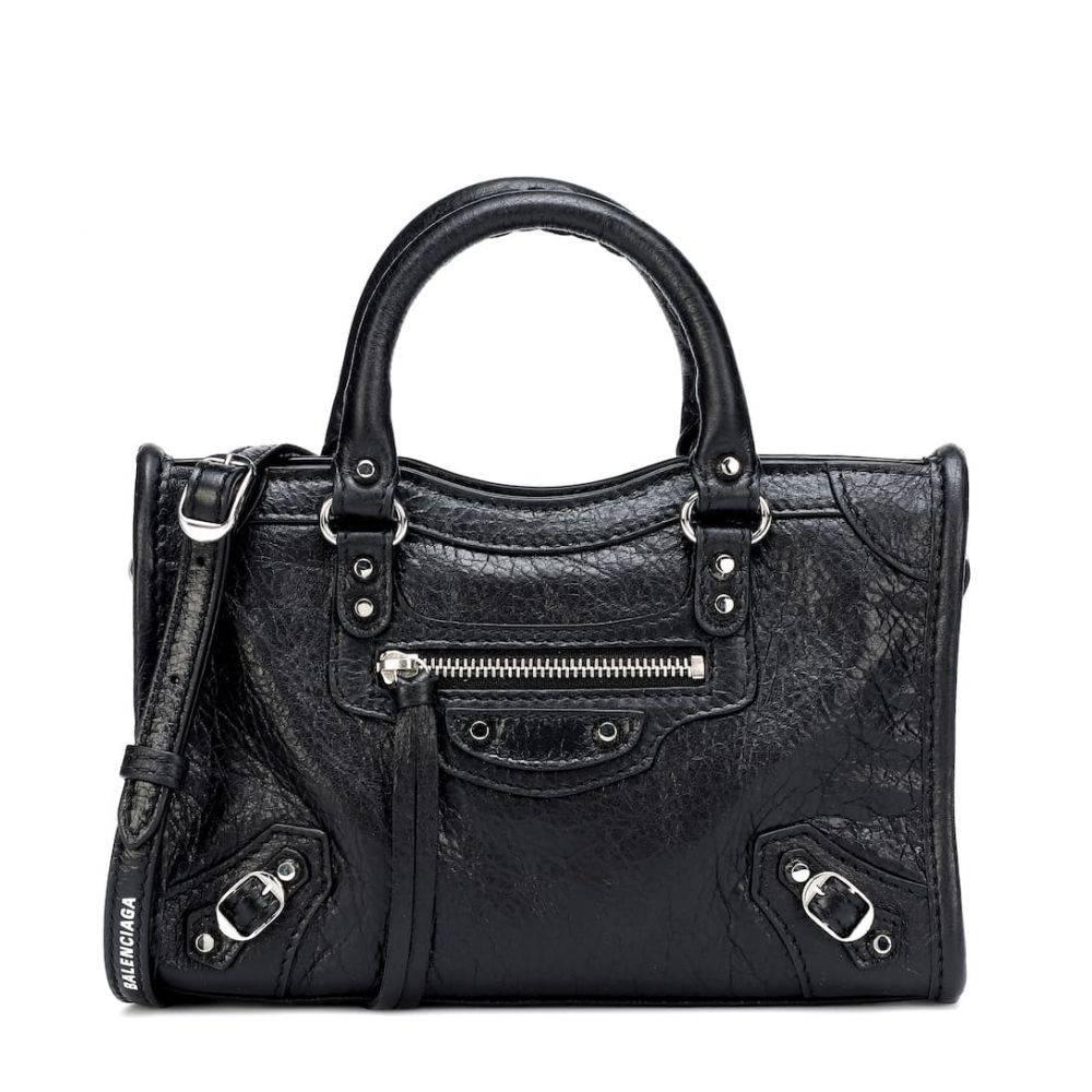 バレンシアガ Balenciaga レディース バッグ トートバッグ【Classic Nano City leather tote】Black/L White