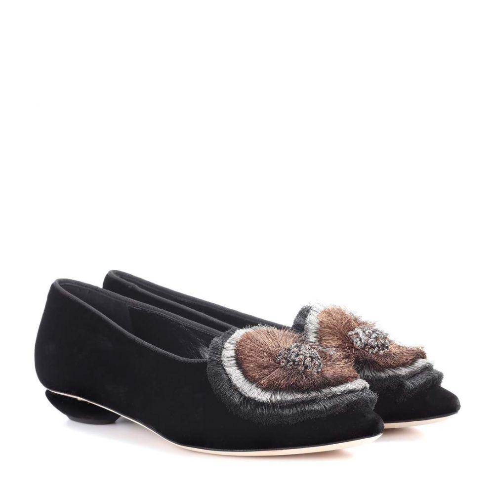サナイ313 Sanayi 313 レディース シューズ・靴 スリッポン・フラット【Zarina velvet ballerinas】Black / Bronze & Silver & Blac