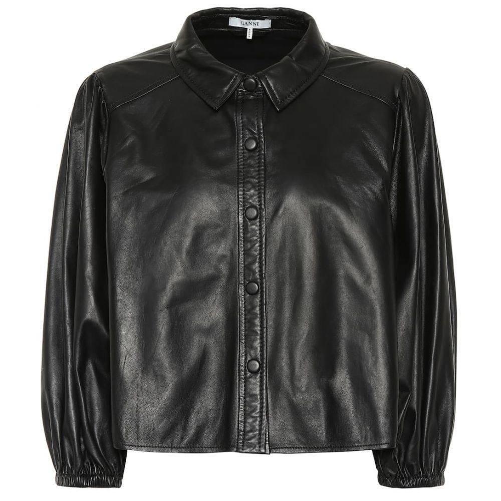 ガニー Ganni レディース トップス ブラウス・シャツ【Leather shirt】Black