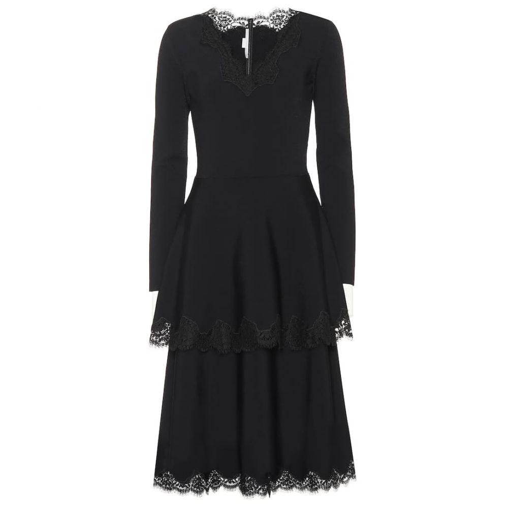 ステラ マッカートニー Stella McCartney レディース ワンピース・ドレス パーティードレス【Lace-trimmed jersey dress】Black