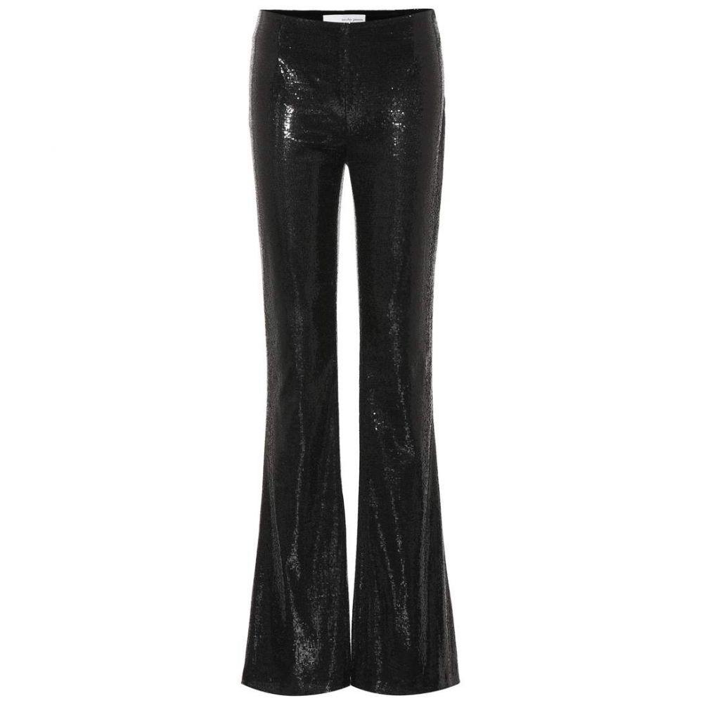ガルバン Galvan レディース ボトムス・パンツ【Galaxy flared sequinned pants】Black