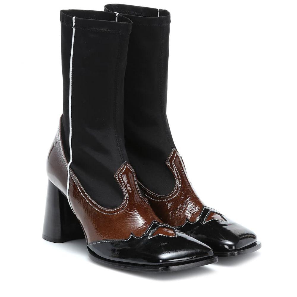 エラリー Ellery レディース シューズ・靴 ブーツ【Leather ankle boots】black