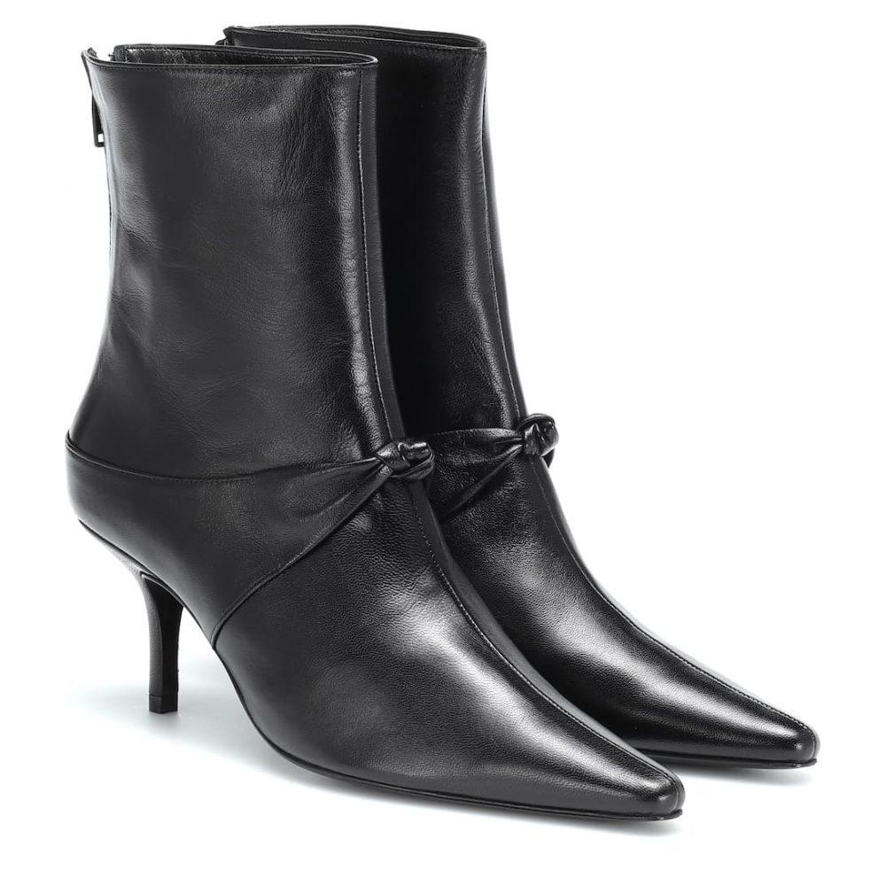 定番 ドラティムール Dorateymur Knot レディース シューズ・靴 ブーツ【Groupie ブーツ【Groupie Knot ankle leather ankle boots】black, MUSIC EXPERIENCE:628b2a48 --- dmarketingland.in
