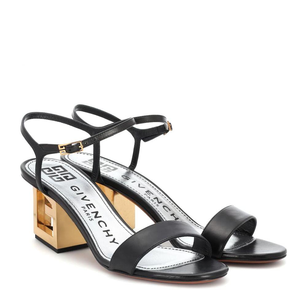 ジバンシー Givenchy レディース シューズ・靴 サンダル・ミュール【Triangle Leather sandals】Black