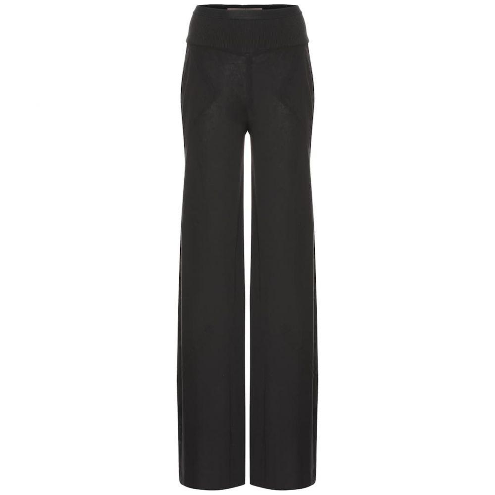 リック オウエンス Rick Owens レディース ボトムス・パンツ【Lilies cotton-blend wide-leg pants】Black
