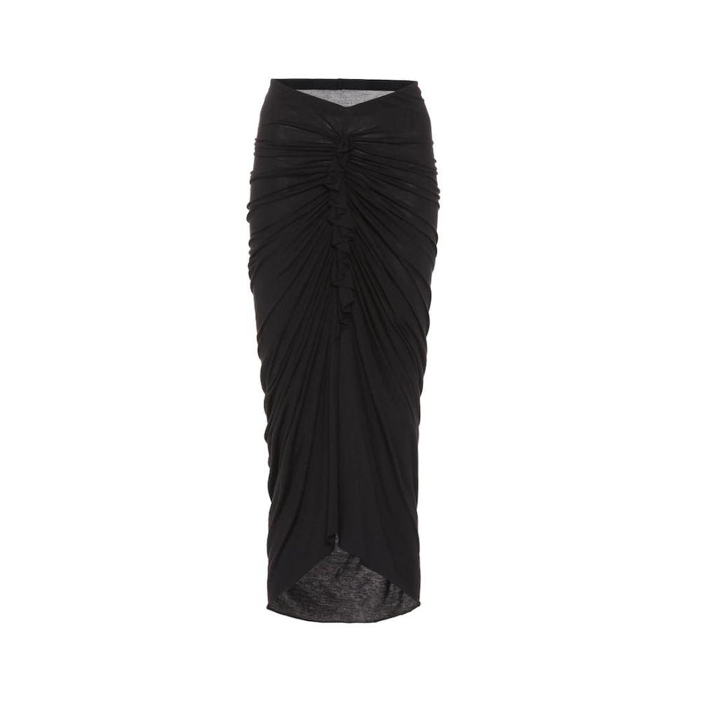 リック オウエンス Rick Owens レディース スカート ひざ丈スカート【Lillies jersey skirt】Black
