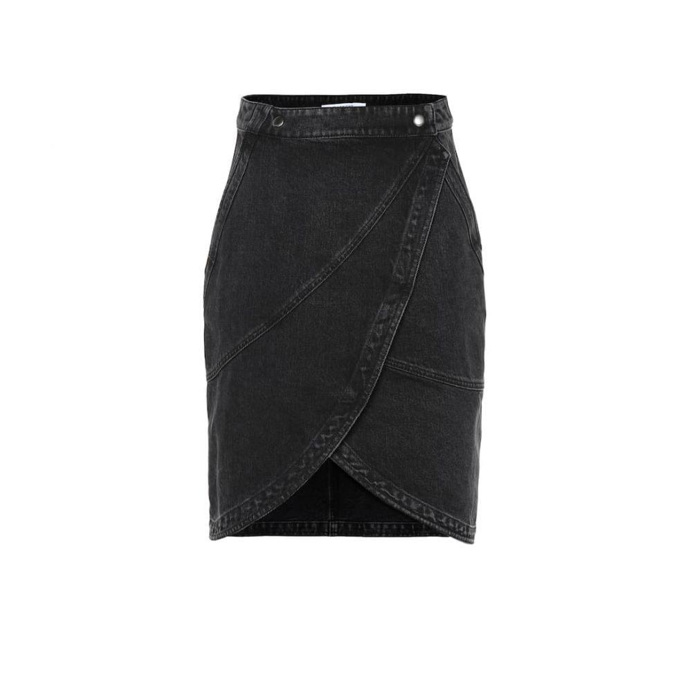 ジバンシー Givenchy レディース スカート ひざ丈スカート【High-rise denim skirt】Black