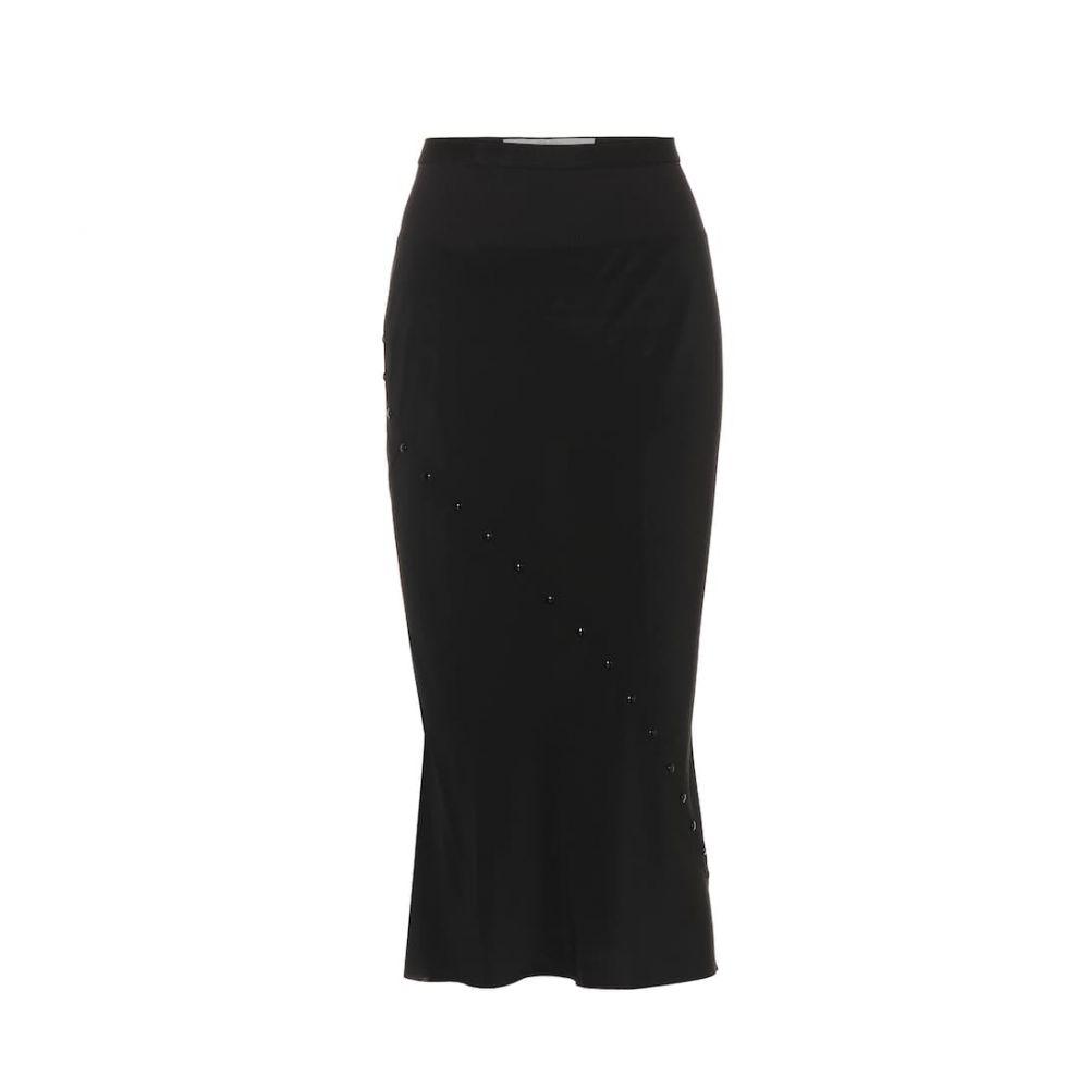 リック オウエンス Rick Owens レディース スカート ひざ丈スカート【Silk pencil skirt】Black