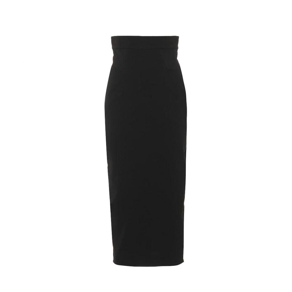 リック オウエンス Rick Owens レディース スカート ひざ丈スカート【Dirt Pillar cotton-blend midi skirt】Black