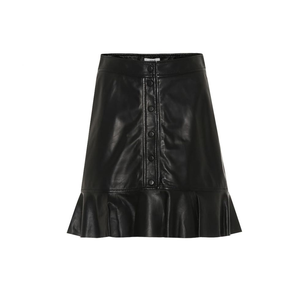 ガニー Ganni レディース スカート【Leather skirt】Black