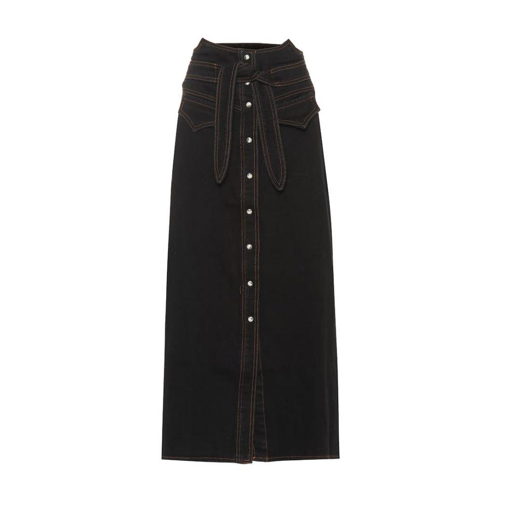 ナヌシュカ Nanushka レディース スカート ひざ丈スカート【Alma denim skirt】Black