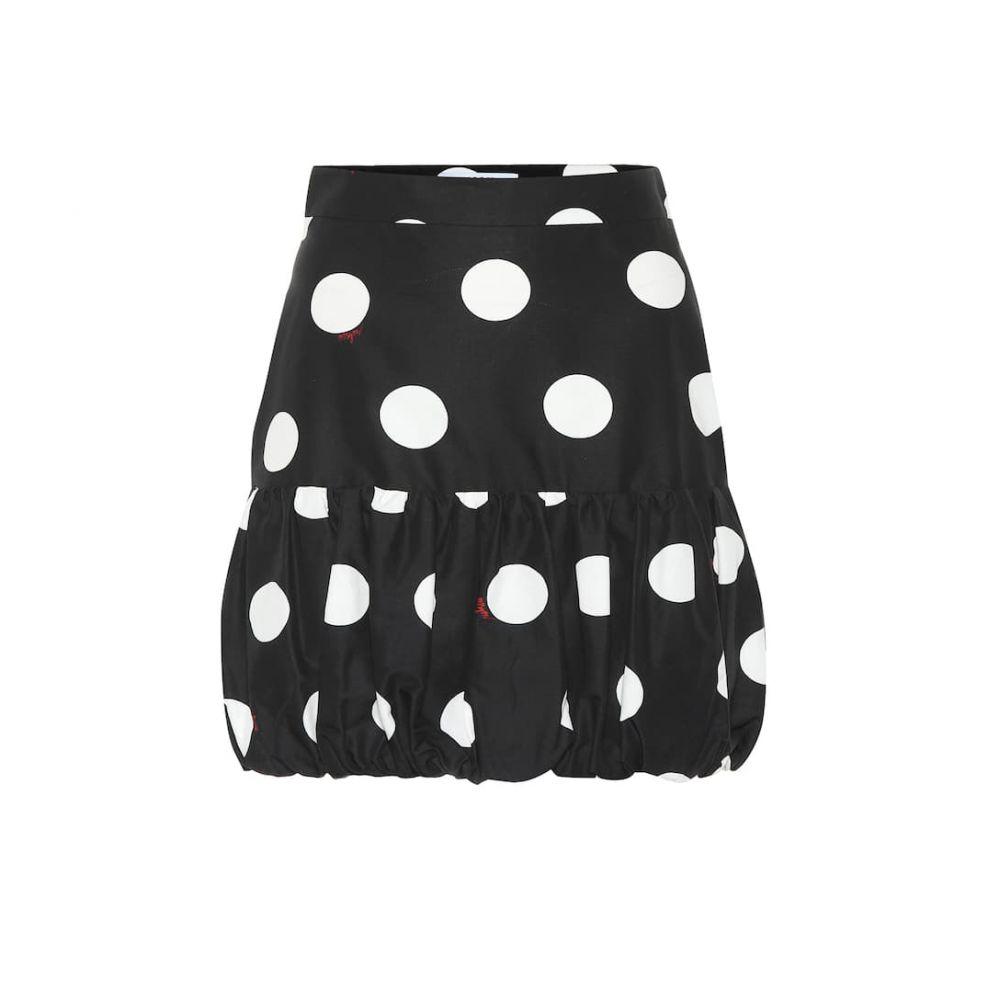 エムエスジーエム MSGM レディース スカート ミニスカート【Polka-dot cotton miniskirt】black