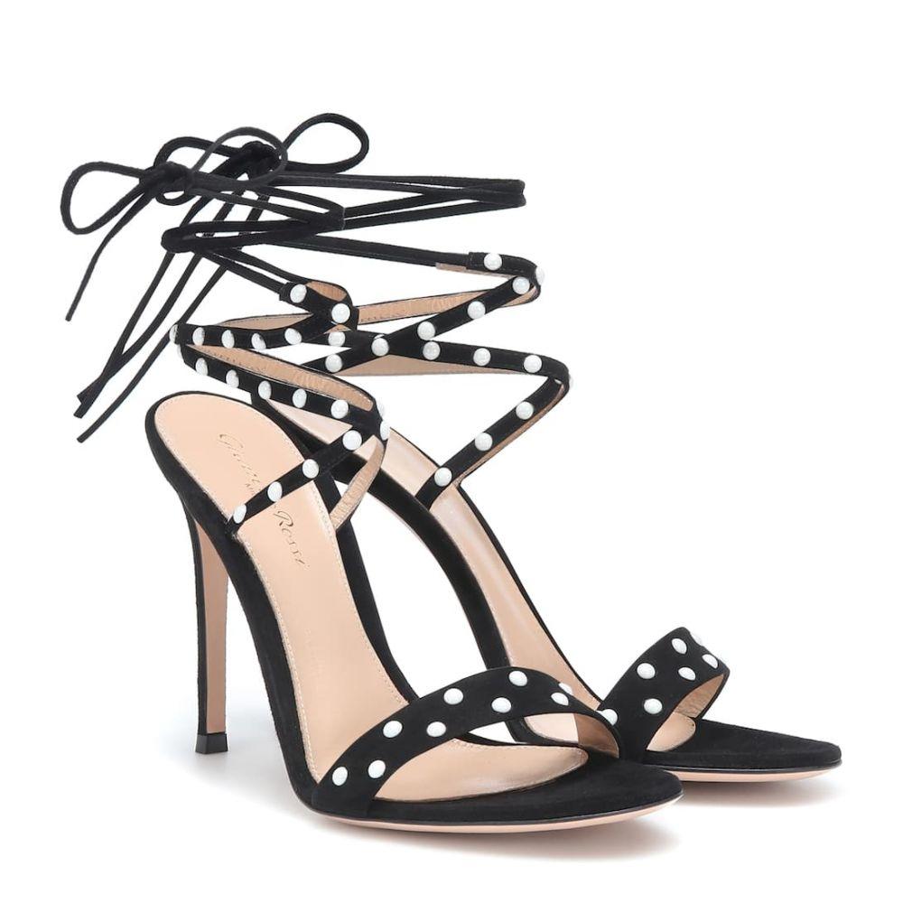 ジャンヴィト ロッシ Gianvito Rossi レディース シューズ・靴 サンダル・ミュール【Embellished suede sandals】Black