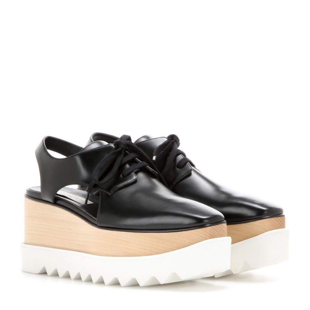 ステラ マッカートニー Stella McCartney レディース シューズ・靴【Elyse platform cut-out Derby shoes】Black