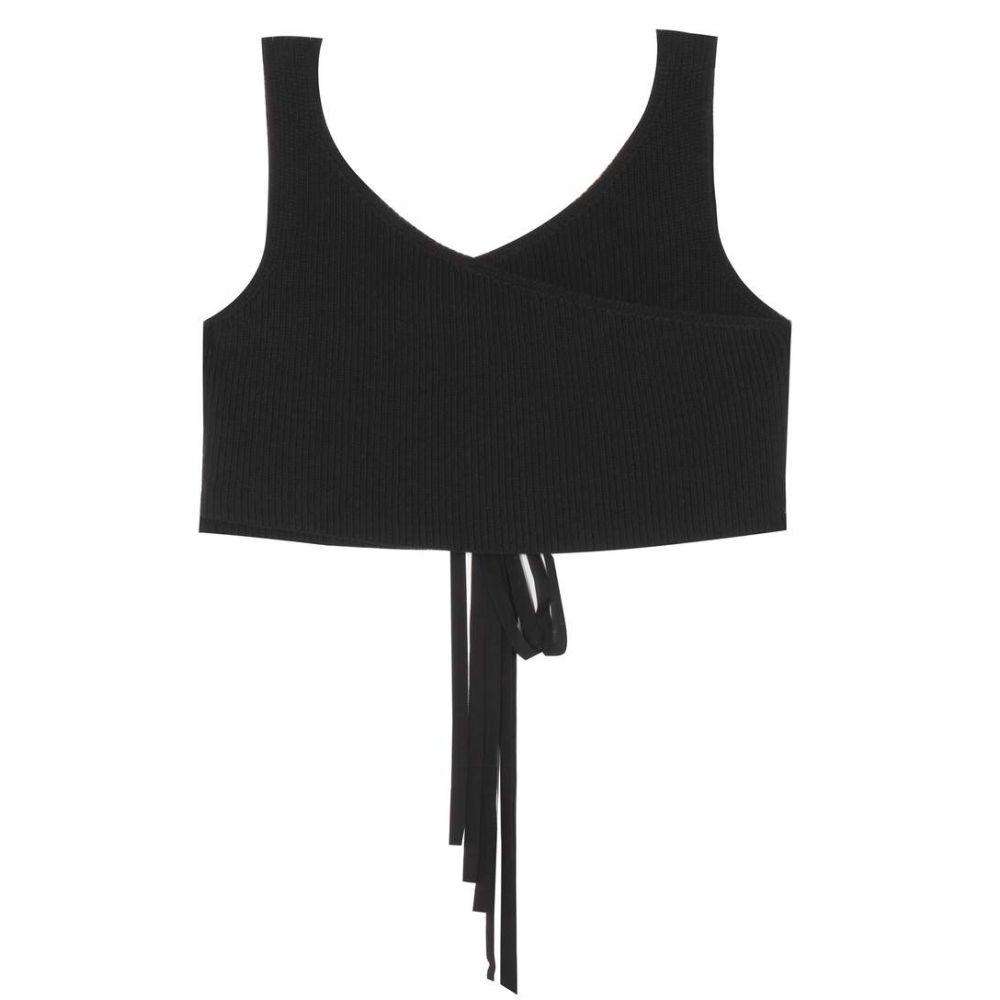 ザ ロウ The Row レディース トップス ベアトップ・チューブトップ・クロップド【Drew cotton-blend knitted crop top】Black