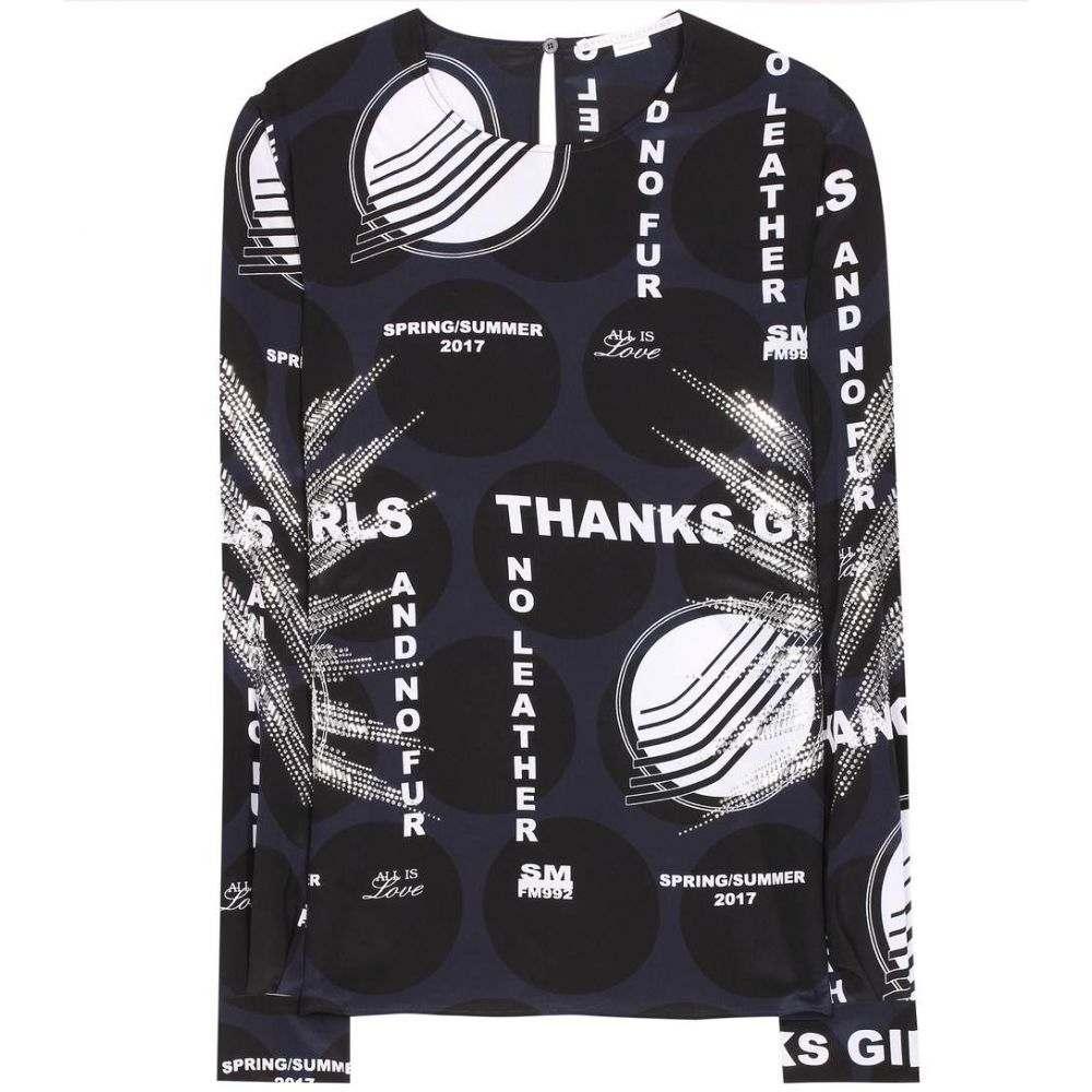 ステラ マッカートニー Stella McCartney レディース トップス【Embellished silk top】Black