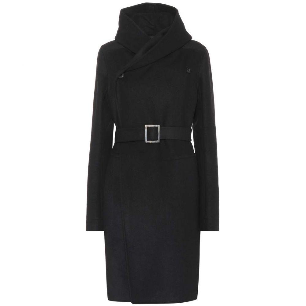 リック オウエンス Rick Owens レディース アウター コート【Belted wool-blend coat】Black