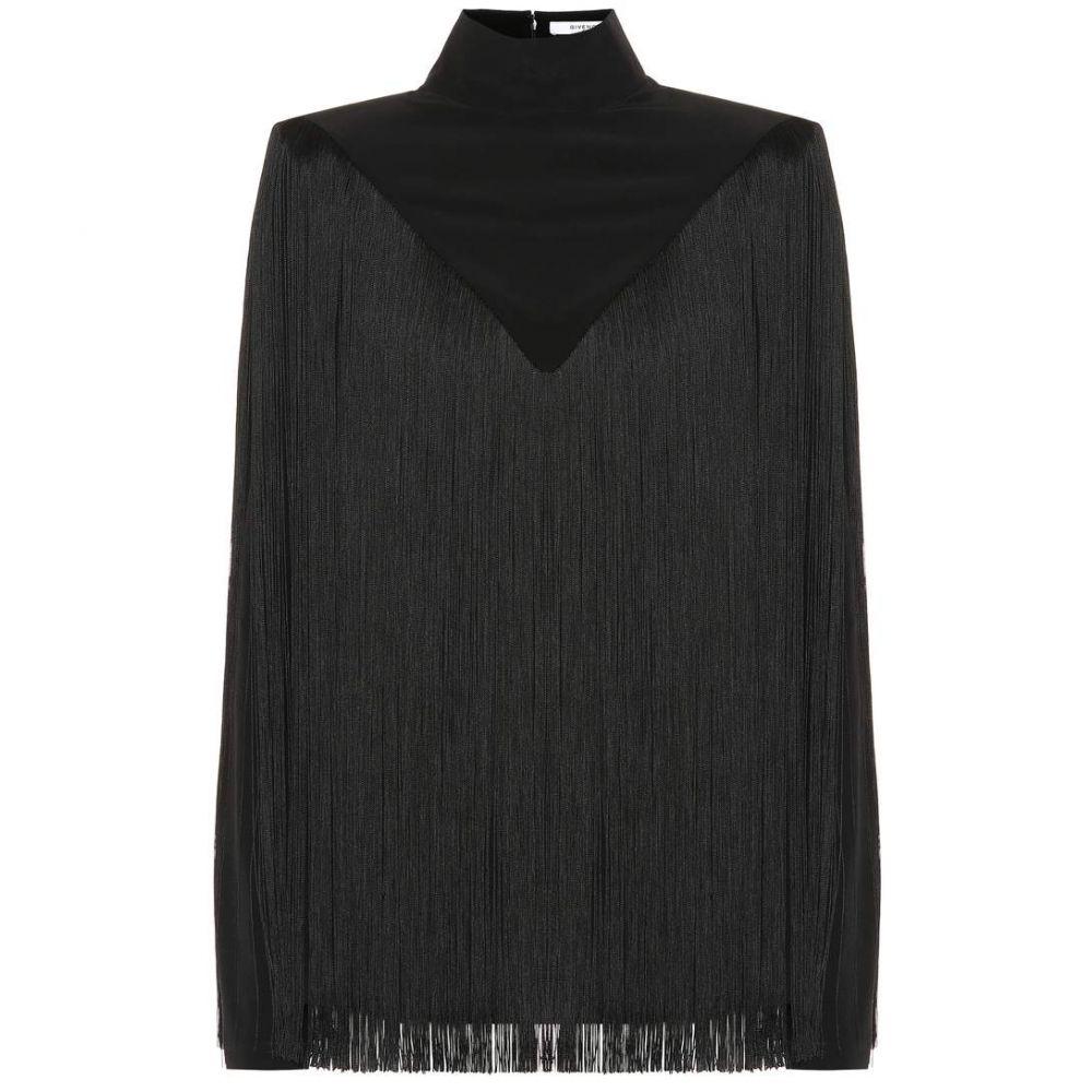 ジバンシー Givenchy レディース トップス【Fringed silk top】black