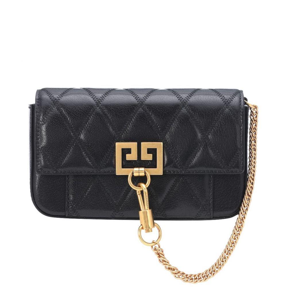 ジバンシー Givenchy レディース バッグ ショルダーバッグ【Mini Pocket leather shoulder bag】Black