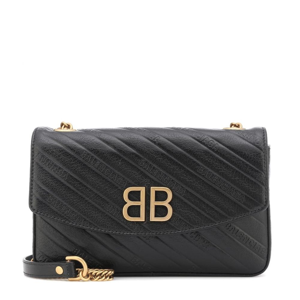バレンシアガ Balenciaga レディース バッグ ショルダーバッグ【Chain Round S leather shoulder bag】Black