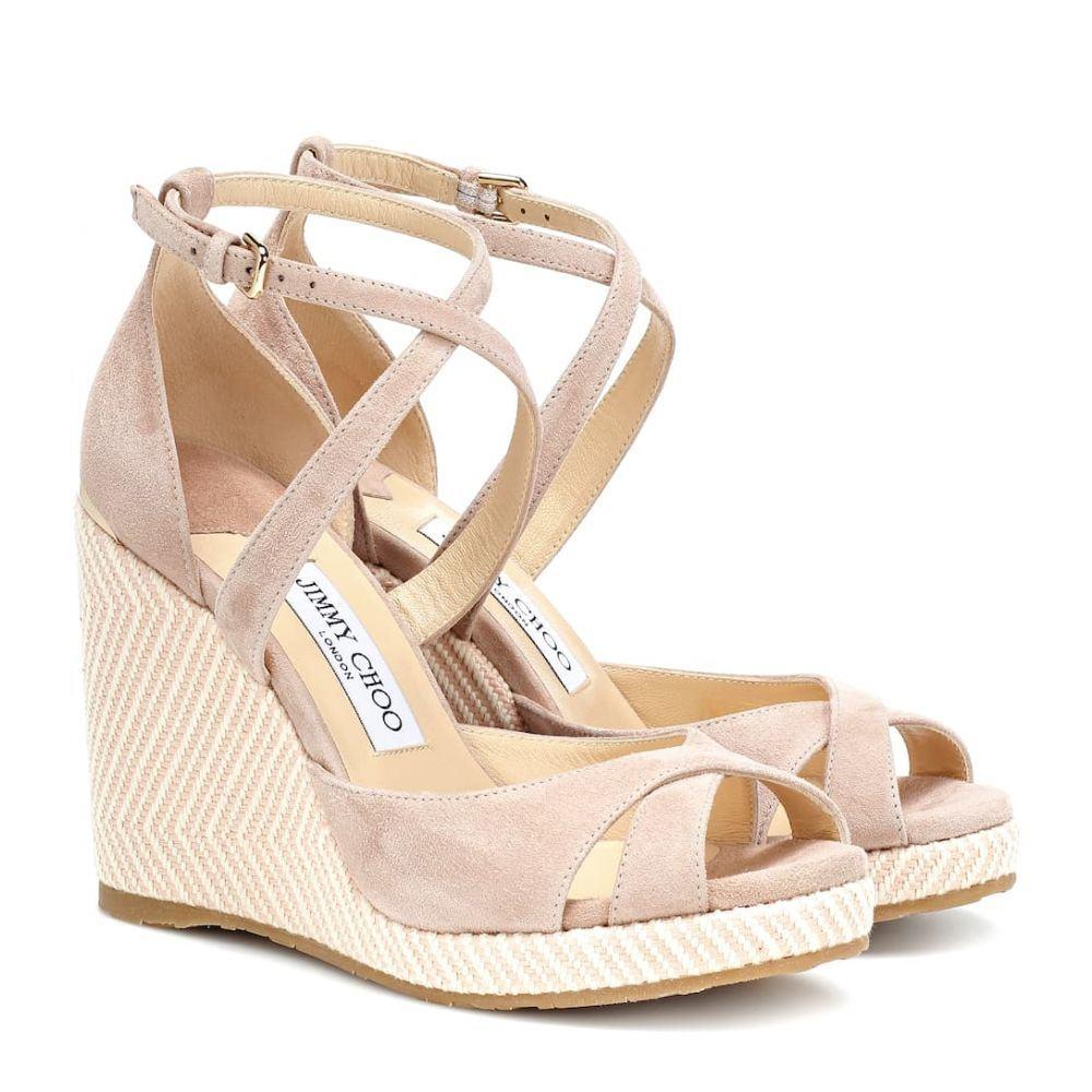 ジミー チュウ Jimmy Choo レディース シューズ・靴 サンダル・ミュール【Alanah 105 suede wedge sandals】ballet pink mix
