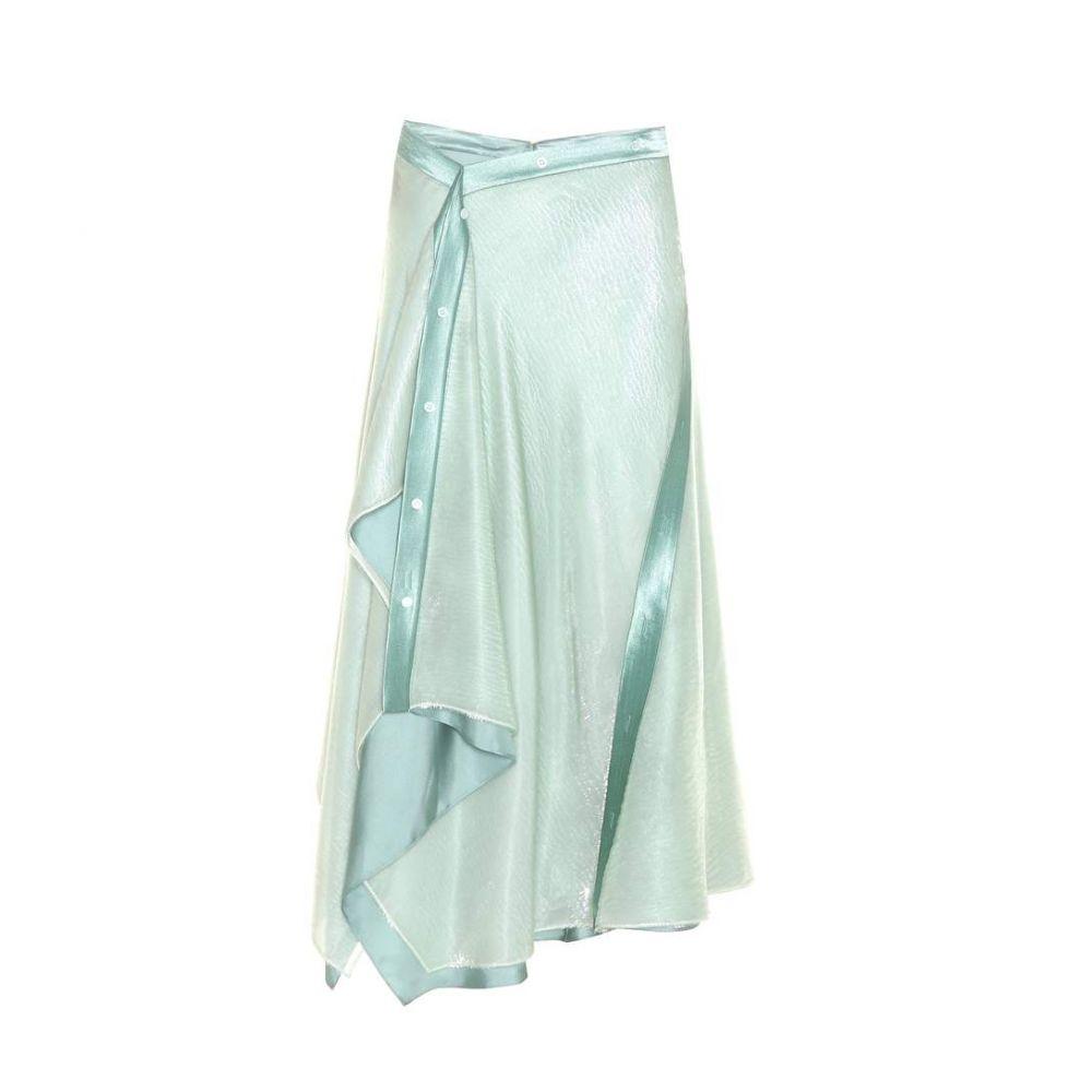 シエス マルジャン Sies Marjan レディース スカート【Mallory asymmetric silk-blend skirt】Aqua