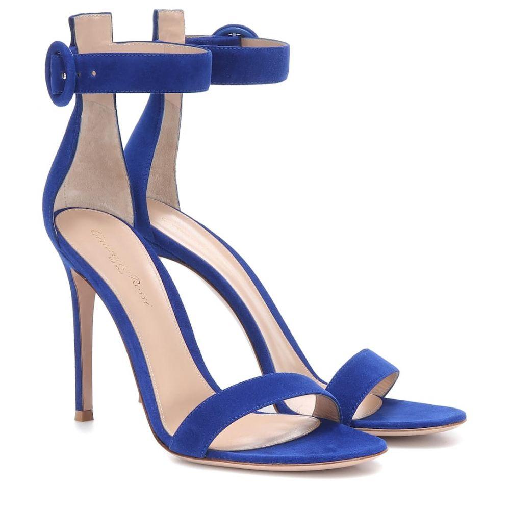 ジャンヴィト ロッシ Gianvito Rossi レディース シューズ・靴 サンダル・ミュール【Portofino 105 leather sandals】Azure