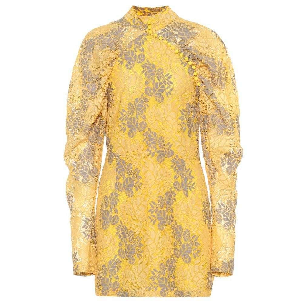 ローテート ROTATE BIRGER CHRISTENSEN レディース ワンピース・ドレス ワンピース【Lace minidress】Amber Yellow