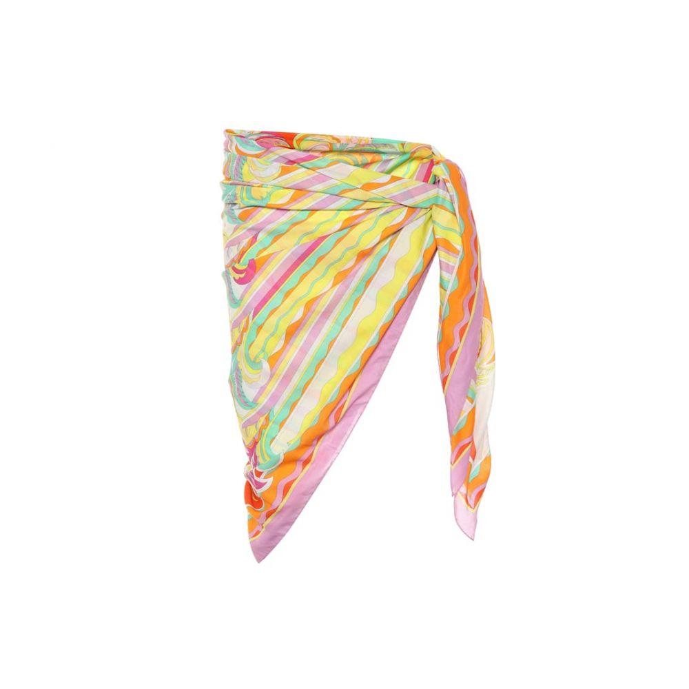 エミリオ プッチ Emilio Pucci Beach レディース 水着・ビーチウェア ビーチウェア【Printed cotton sarong】Arancio/Acqua
