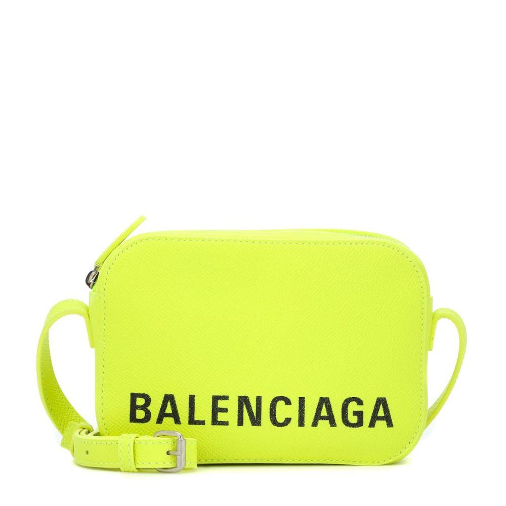 バレンシアガ Balenciaga レディース バッグ【Ville Camera XS leather shoulder bag】Acid Green/L Black