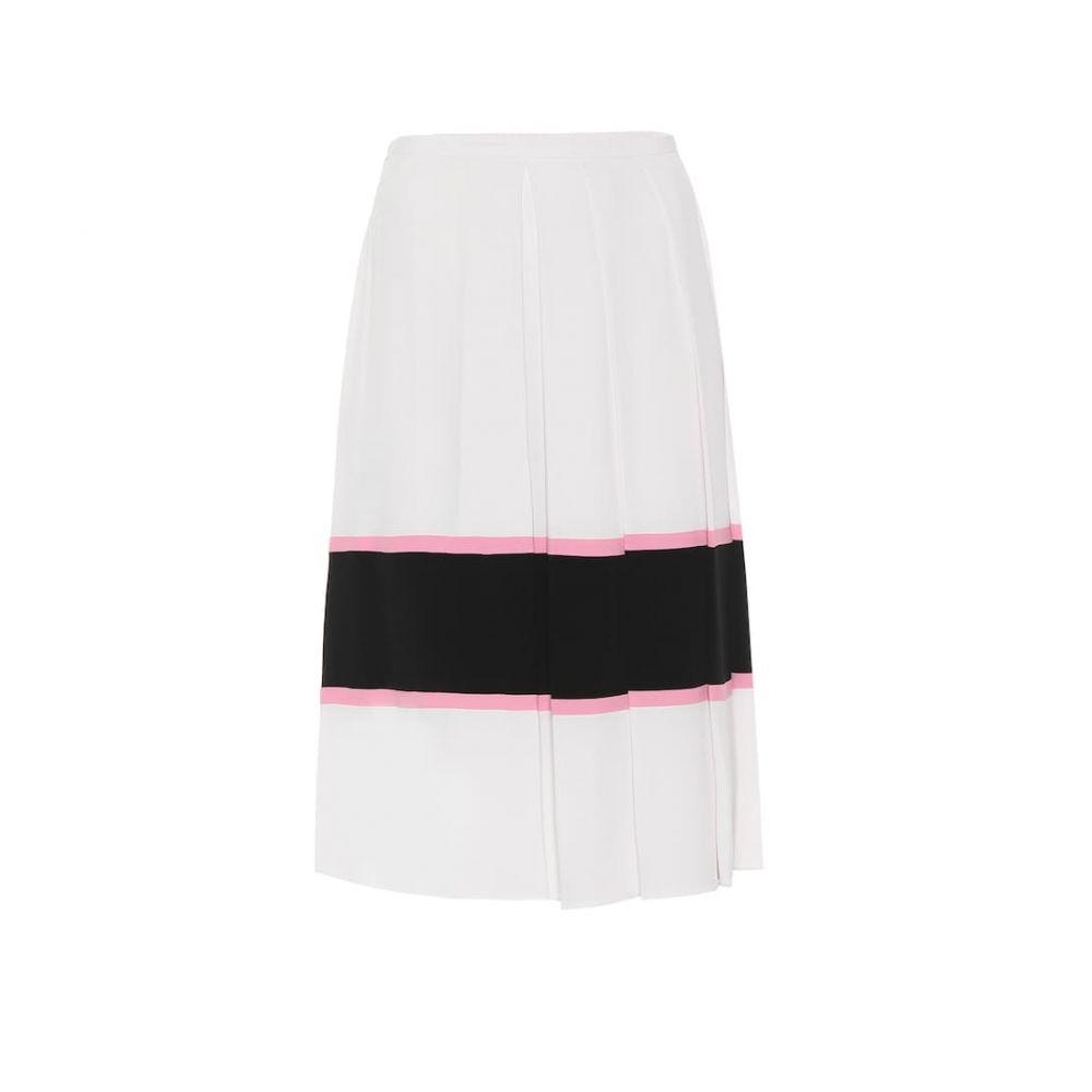 マルニ Marni レディース スカート ひざ丈スカート【Silk-blend crepe midi skirt】