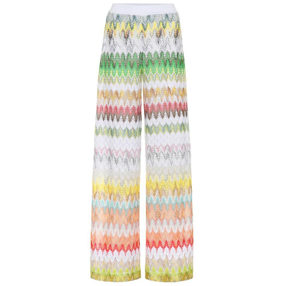 ミッソーニ Missoni レディース ボトムス・パンツ【Striped knit wide-leg pants】
