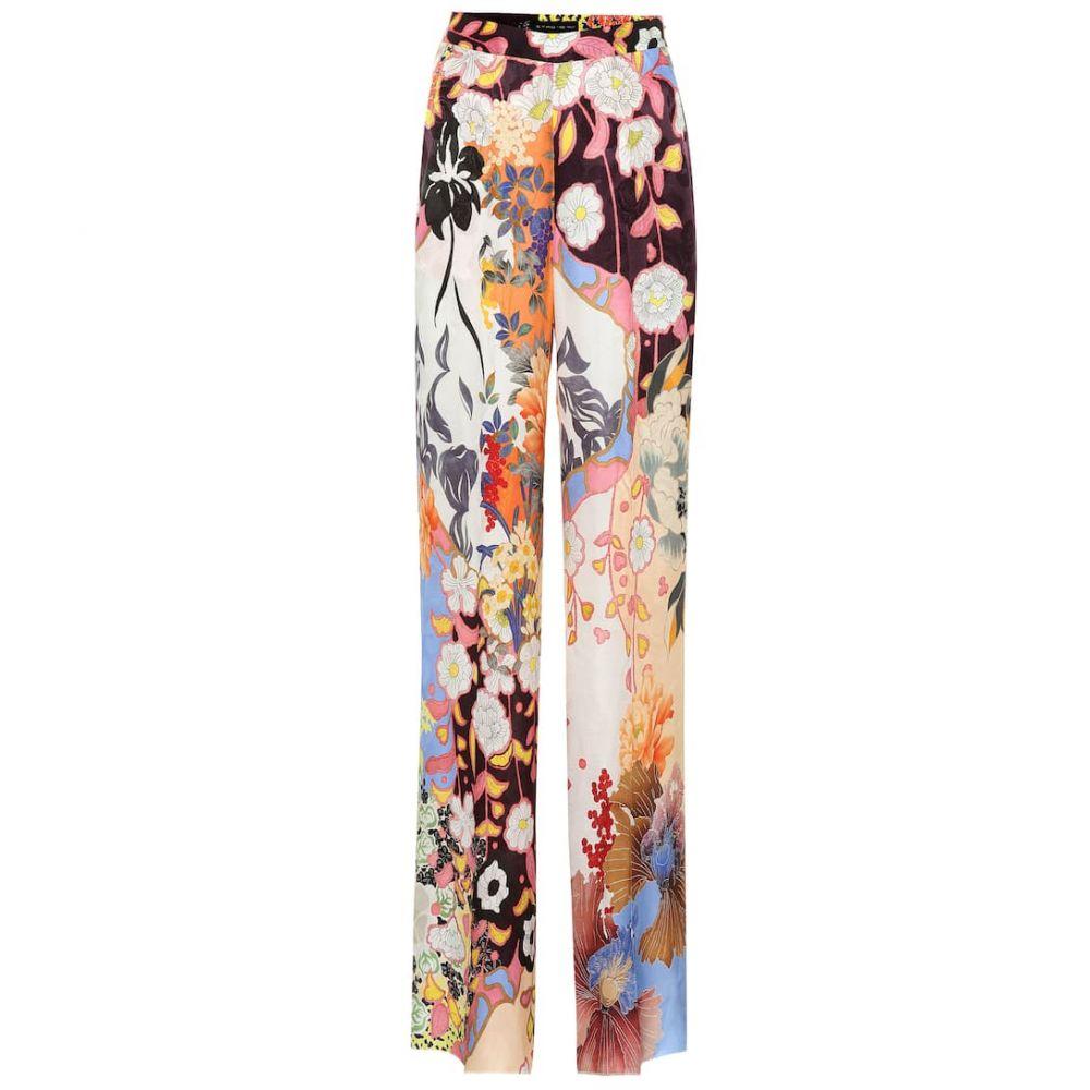 エトロ Etro レディース ボトムス・パンツ【High-rise wide-leg silk-blend pants】