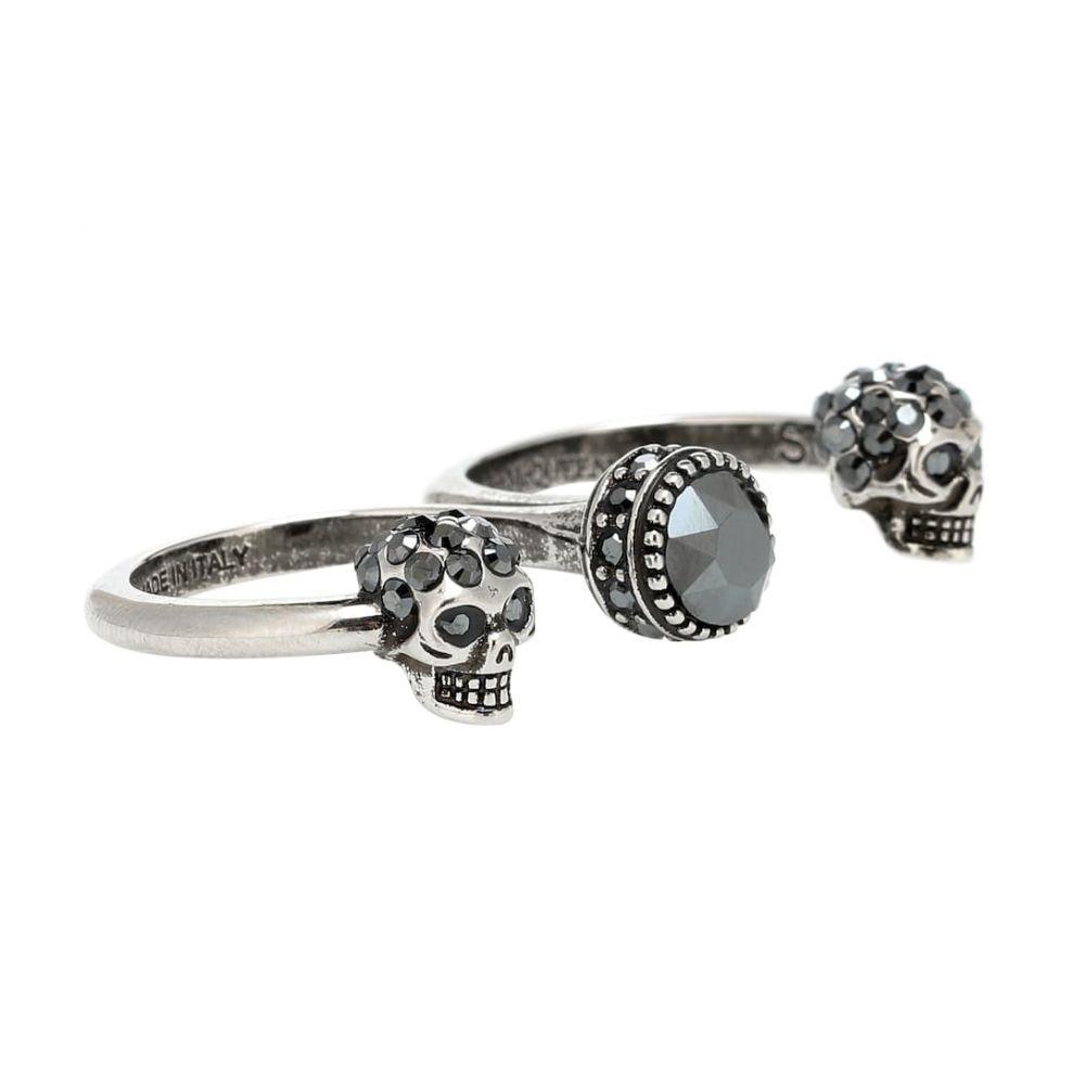 アレキサンダー マックイーン Alexander McQueen レディース ジュエリー・アクセサリー 指輪・リング【Crystal skull multi-finger ring】