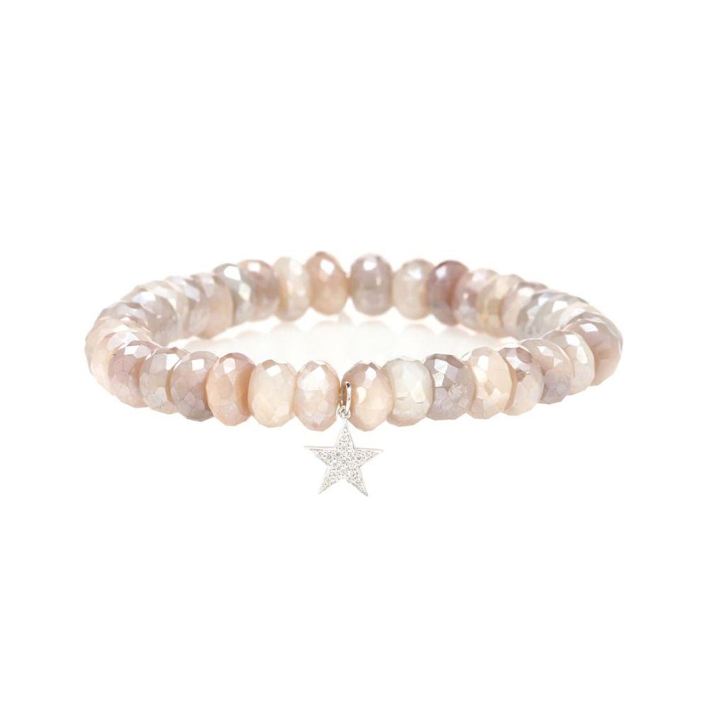 シドニーエヴァン Sydney Evan レディース ジュエリー・アクセサリー ブレスレット【Star 14kt gold and moonstone charm bracelet with diamonds】