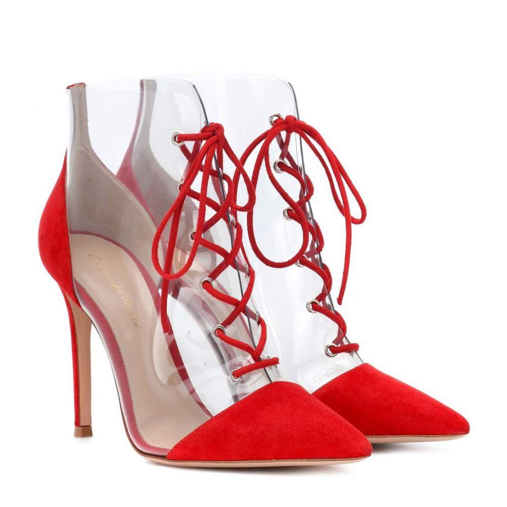 ジャンヴィト ロッシ Gianvito Rossi レディース シューズ・靴 パンプス【Icon 105 suede and plexi pumps】Tabasco Red