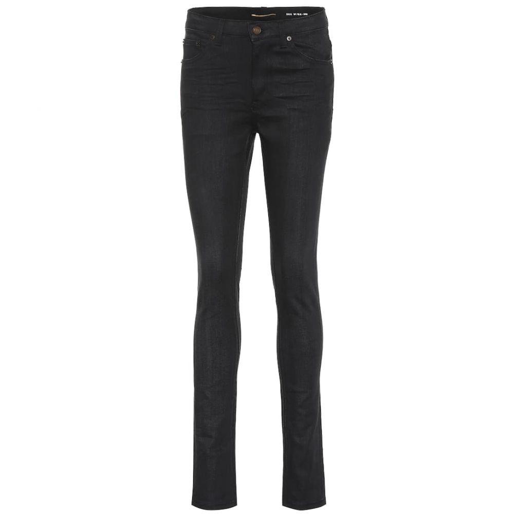 イヴ サンローラン Saint Laurent レディース ボトムス・パンツ ジーンズ・デニム【High-rise skinny jeans】Used Black