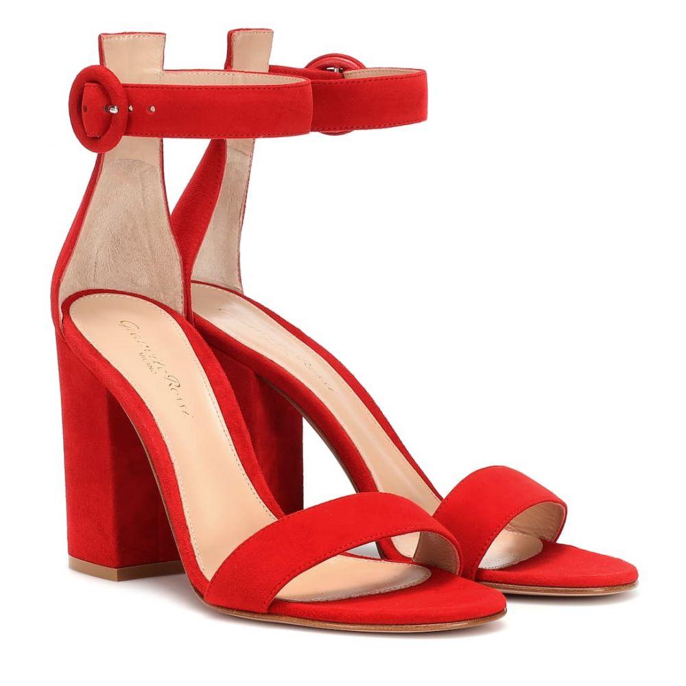ジャンヴィト ロッシ Gianvito Rossi レディース シューズ・靴 サンダル・ミュール【Versilia suede sandals】Tabasco Red