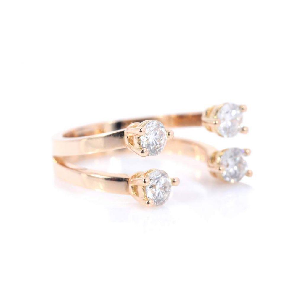デルフィナ デレトレズ Delfina Delettrez レディース ジュエリー・アクセサリー 指輪・リング【Dots 18kt rose gold phalanx ring with diamonds】
