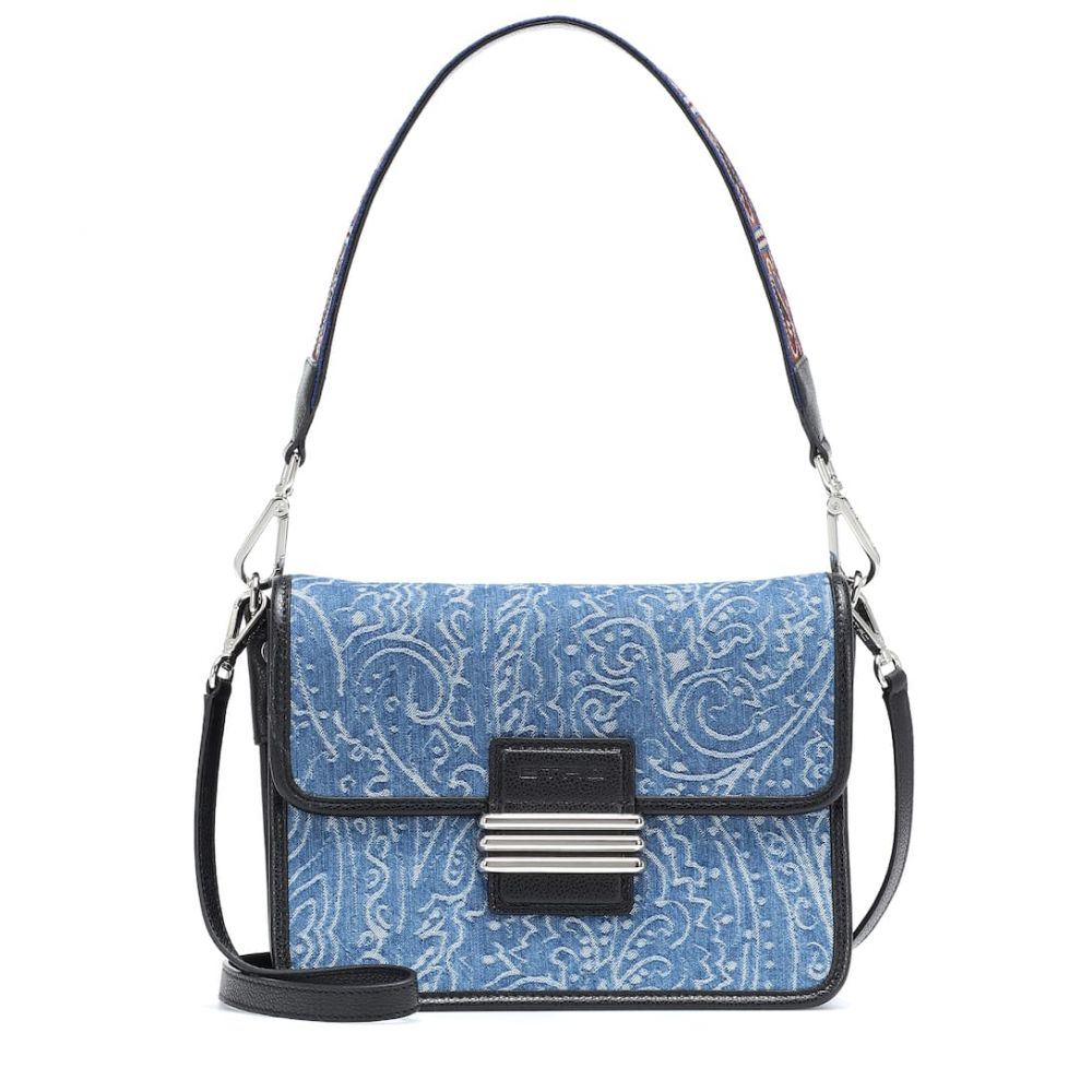 エトロ Etro レディース バッグ ショルダーバッグ【Denim and leather shoulder bag】