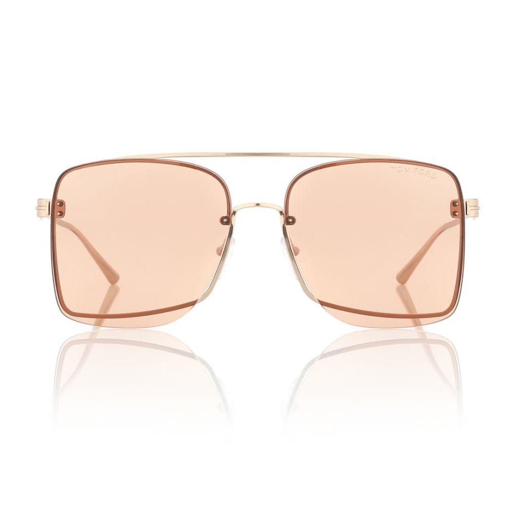 トム フォード Tom Ford レディース メガネ・サングラス【Square metal sunglasses】
