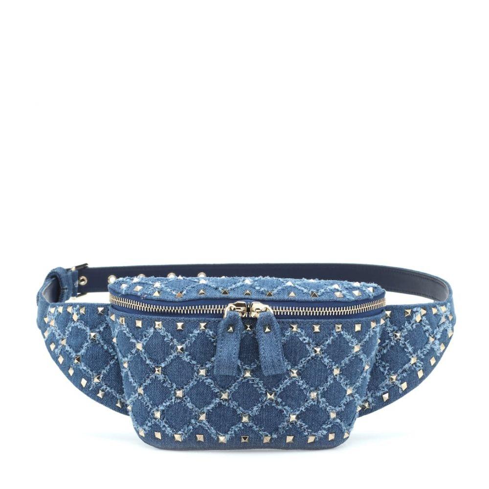 ヴァレンティノ Valentino レディース バッグ ボディバッグ・ウエストポーチ【Garavani Rockstud Spike denim belt bag】