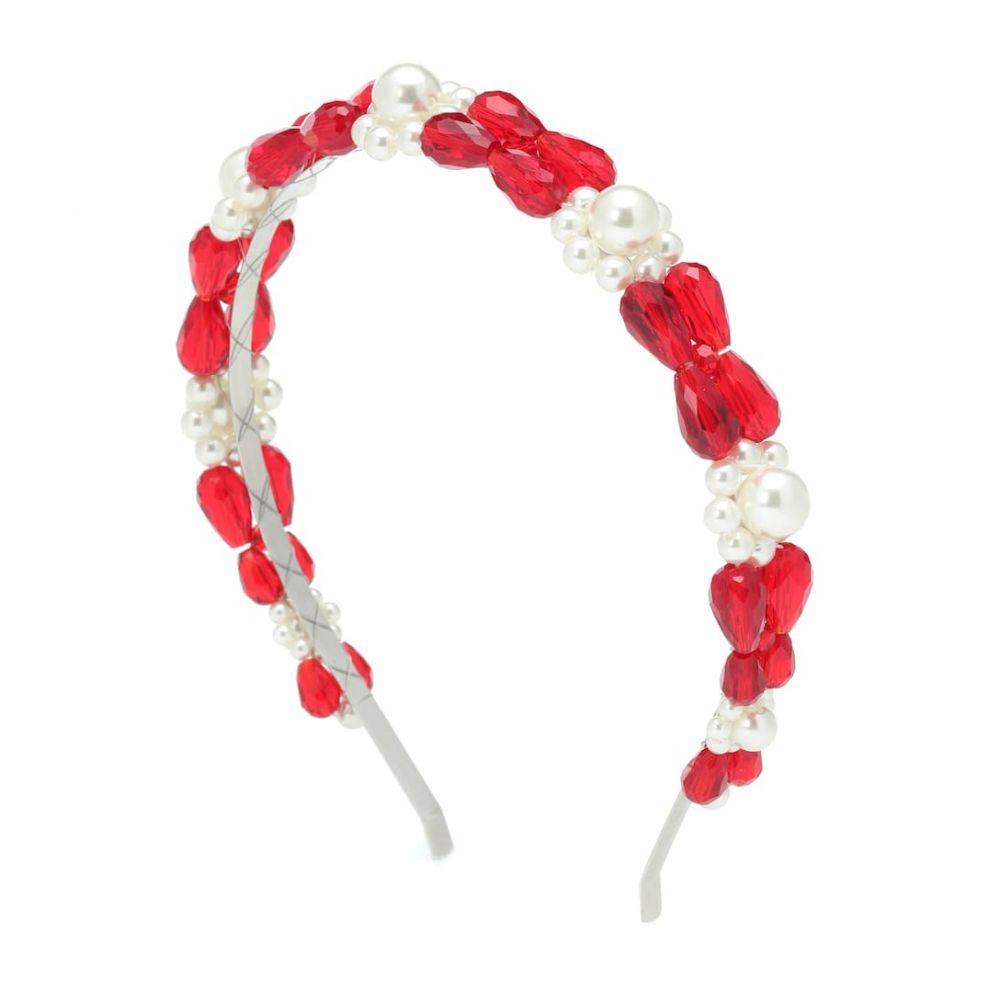 シモーネ ロシャ Simone Rocha レディース ヘアアクセサリー【Crystal and faux pearl headband】